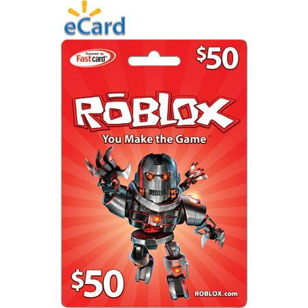 Roblox 50 Game Card Digital Download Walmart Com