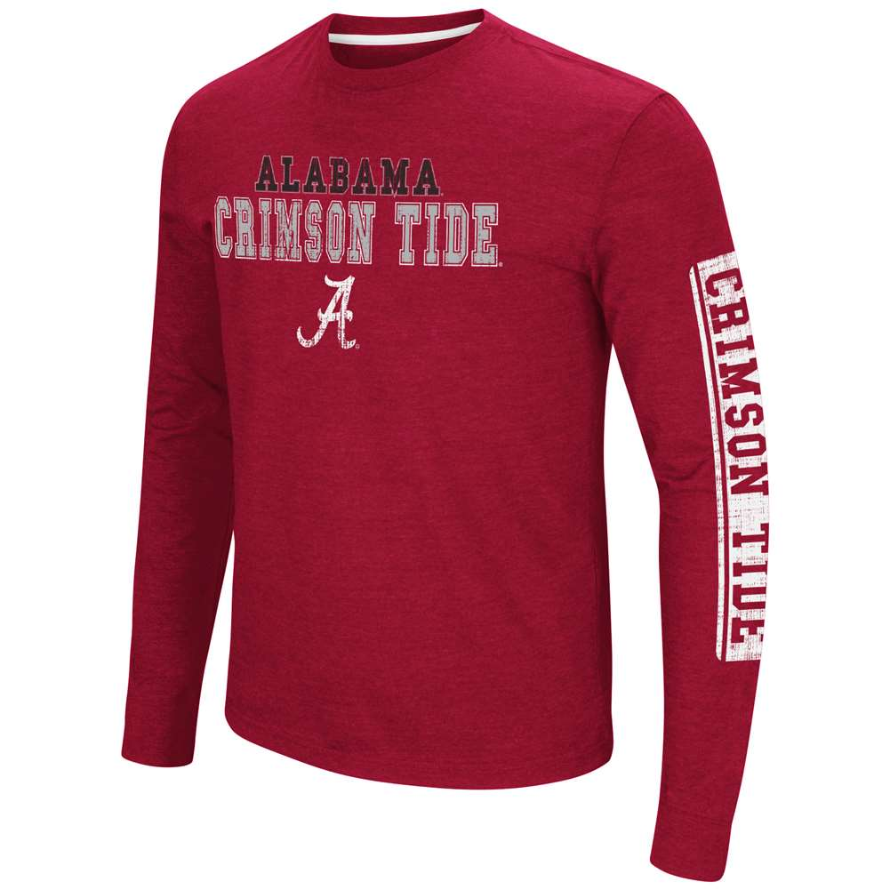 Alabama Crimson Tide Colosseum Sky Box L/S T-Shirt - Straight Print