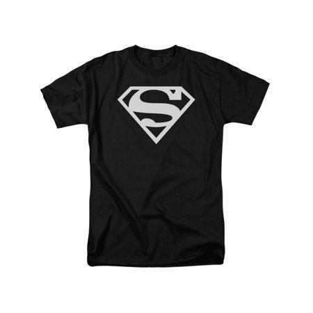 Superman Iconic DC Comic Book Character Basic White S Logo Adult T-Shirt Tee](Supermans City)