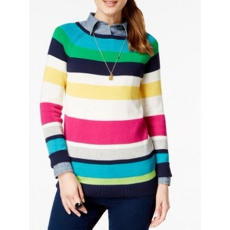 144fd3f900 American Living - American Living NEW Blue Women Size Small S Colorblock  Boat Neck Sweater - Walmart.com