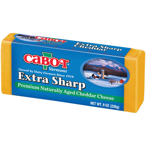 Cabot Vermont Naturally Aged Extra Sharp Cheddar Cheese, 8 oz
