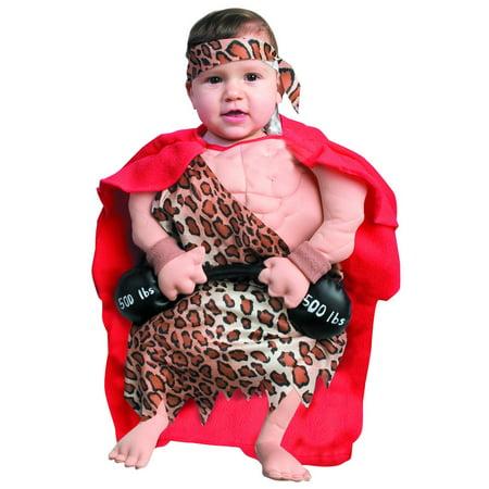 Mini Muscle Man Costume Baby Bunting - Mini Muscle Man