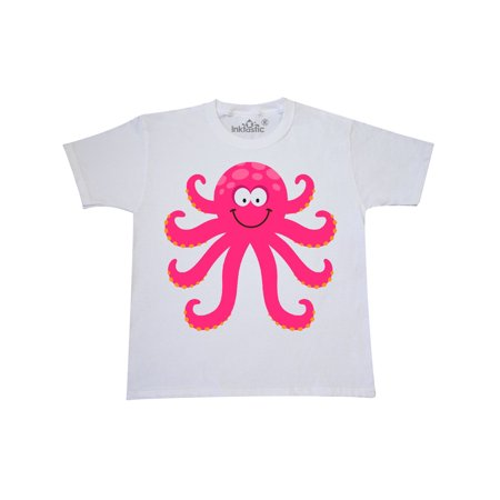 Octopus Sea Creature Pink Girls Youth T-Shirt
