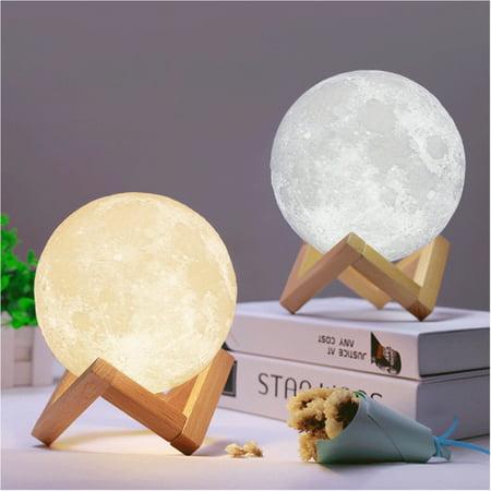 3D LED USB 12CM Moon Light Lamp Night Touch Sensor Moonlight Birthday (Moonlight Fixture)