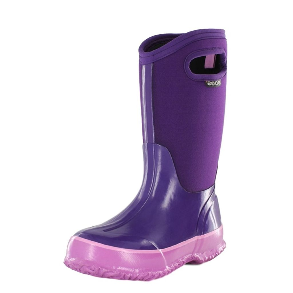 Bogs Boots Girls Kids Classic Solid Color WP Insulated 71442A by Bogs