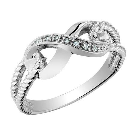 Infinity Diamond Promise Ring in 10K White Gold - image 2 de 2