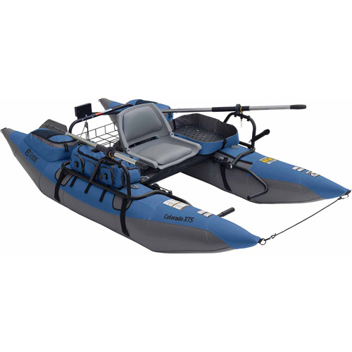 Classic Accessories Colorado XTS Pontoon Fishing Boat, Slate Blue/Grey