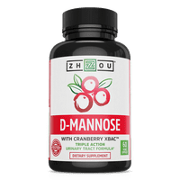 Zhou Nutrition D-Mannose with Cranberry Capsules, 60 Ct
