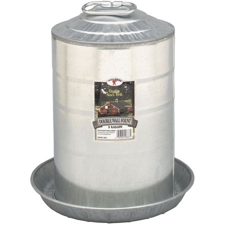 Double Fountain - Little Giant Fount Double Wall Metal 8 Gallons