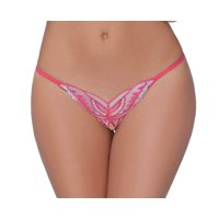 Lacy Line Sexy Open Crotch Butterfly Sequined Strappy Back Panties