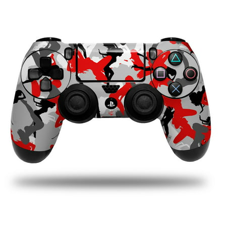 (Skin Wrap for Sony PS4 Dualshock Controller Sexy Girl Silhouette Camo Red (CONTROLLER NOT INCLUDED))