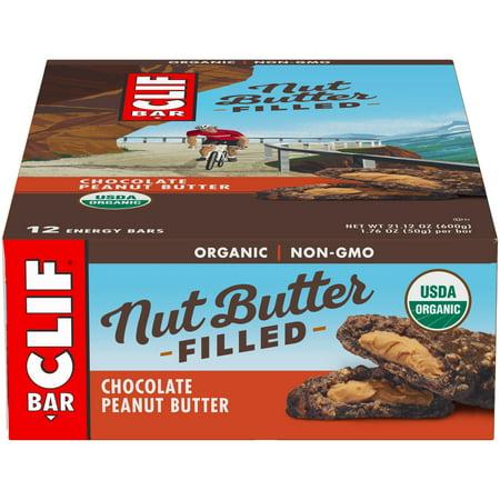 Clif Bar, Nut Butter Filled, Chocolate Peanut Butter, 12