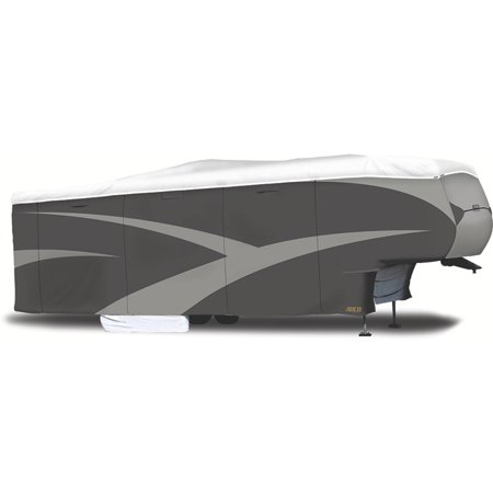 ADCO 5th Wheel Designer Series Tyvek Plus Wind RV Cover, Grey Polypropylene/White Tyvek