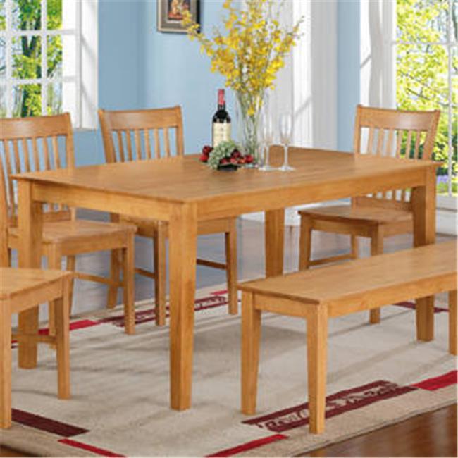 East West EWCDT OAK S Capri Rectangular dining table 36 in
