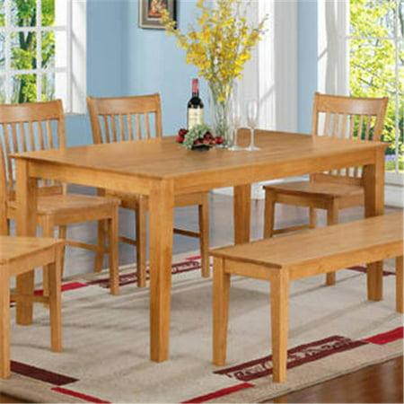 East west ewcdt oak s capri rectangular dining table 36 in for Dining room table 36 x 48
