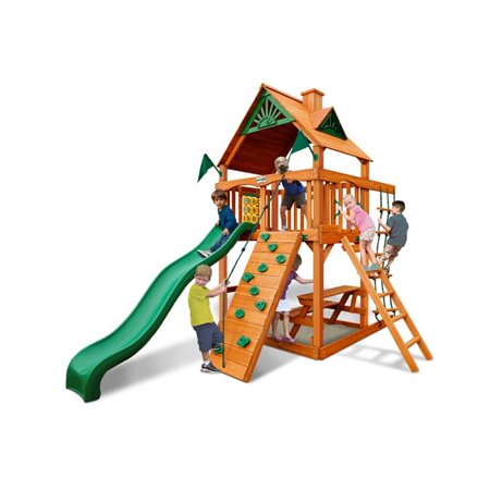 Chateau Tower Swing Set with Amber Posts