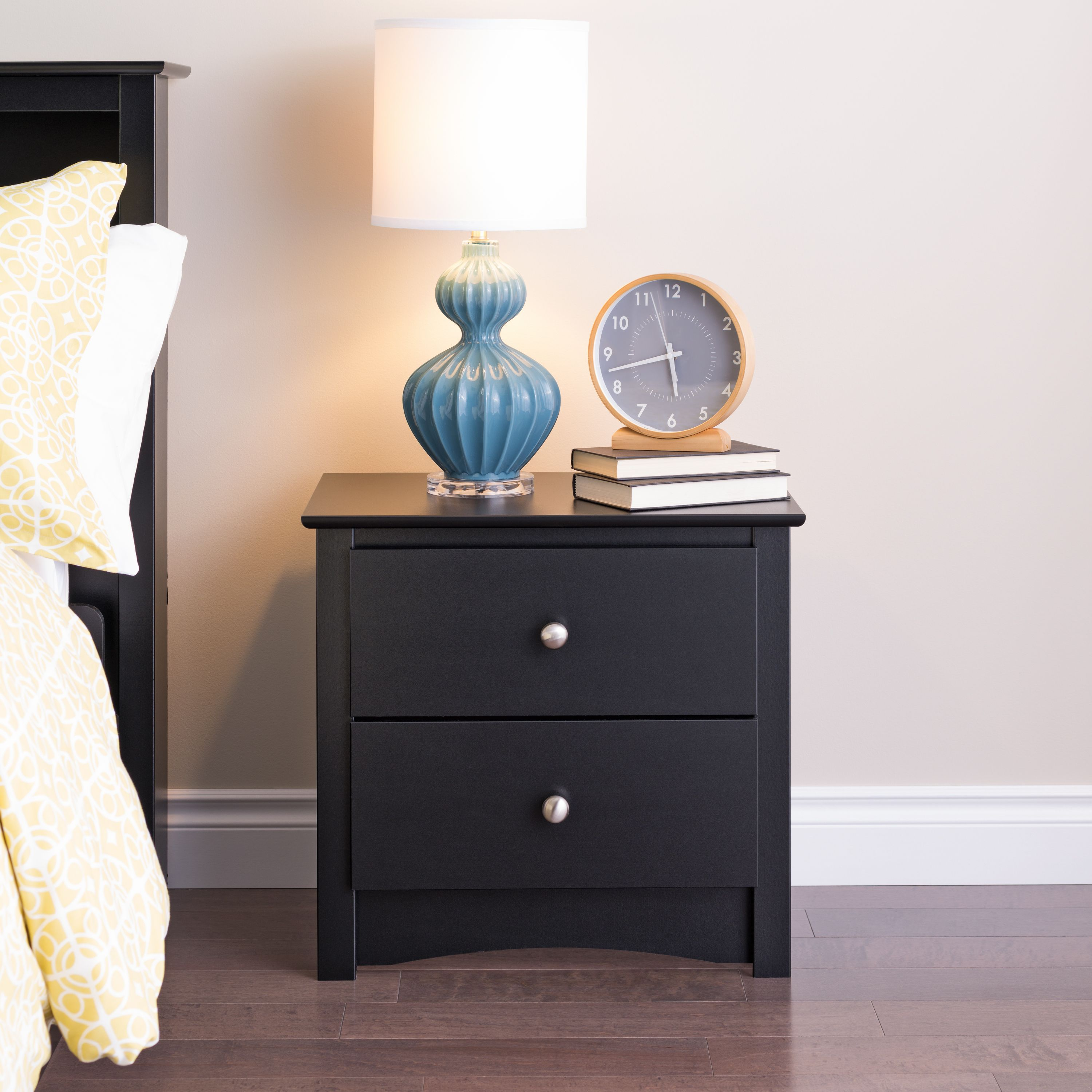 Edenvale 2 Drawer Nightstand Black Walmart