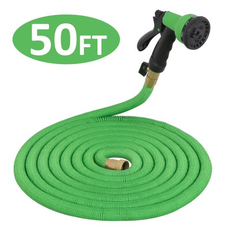 House Pipe - ZENY Expanding Flexible Garden Water Hose with Spray Nozzle (50 feet)