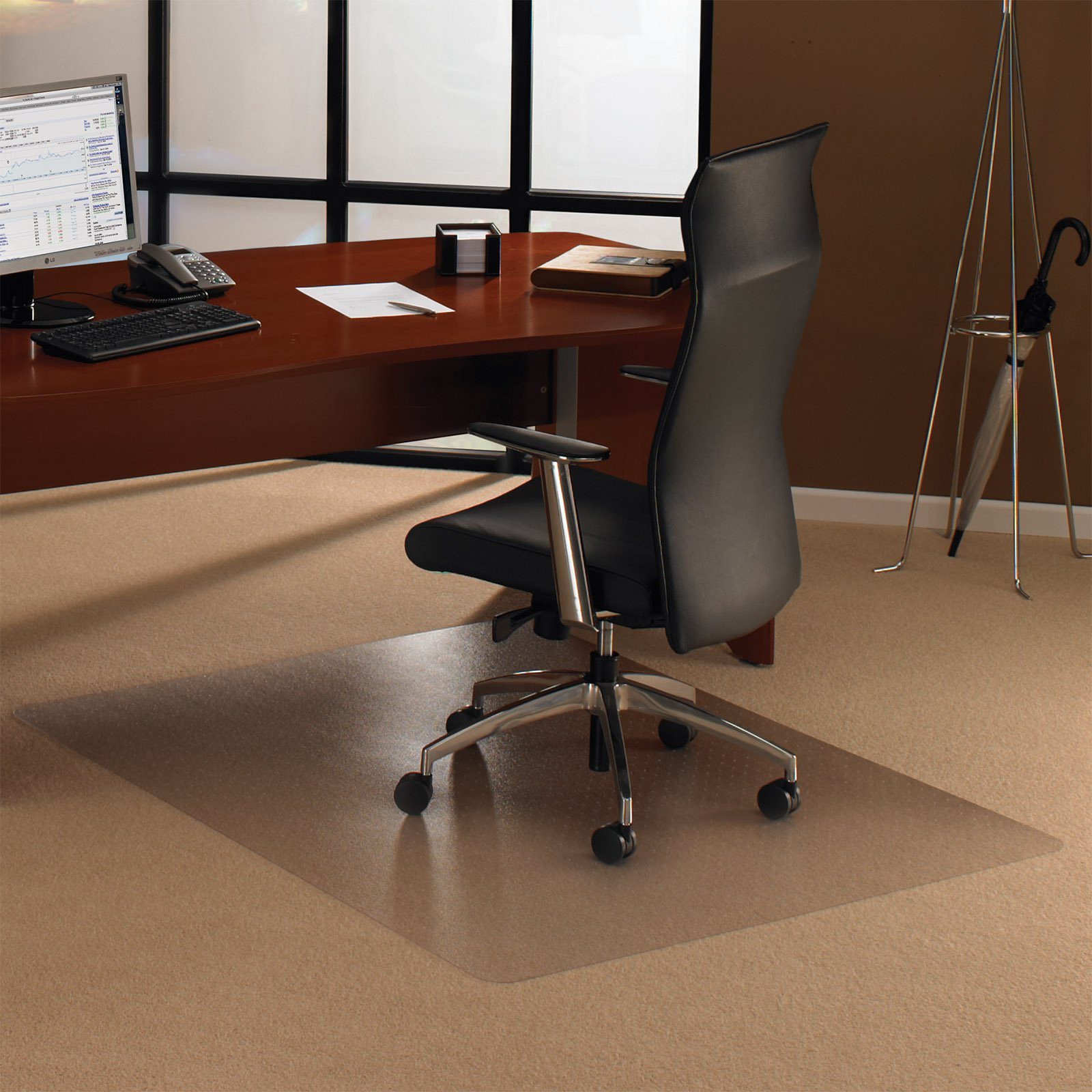 Floortex Ecotex Rectangular Chair Mat for Carpet