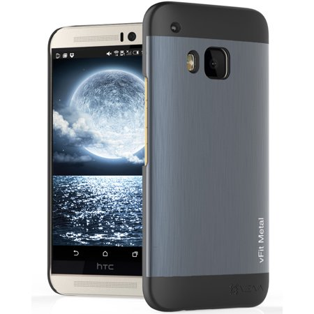 HTC One M9 Case, Vena [vFit] Metal Brushed Aluminum Durable Slim Fit Case Hard Cover for HTC One M9 (2015) - Space Gray & -