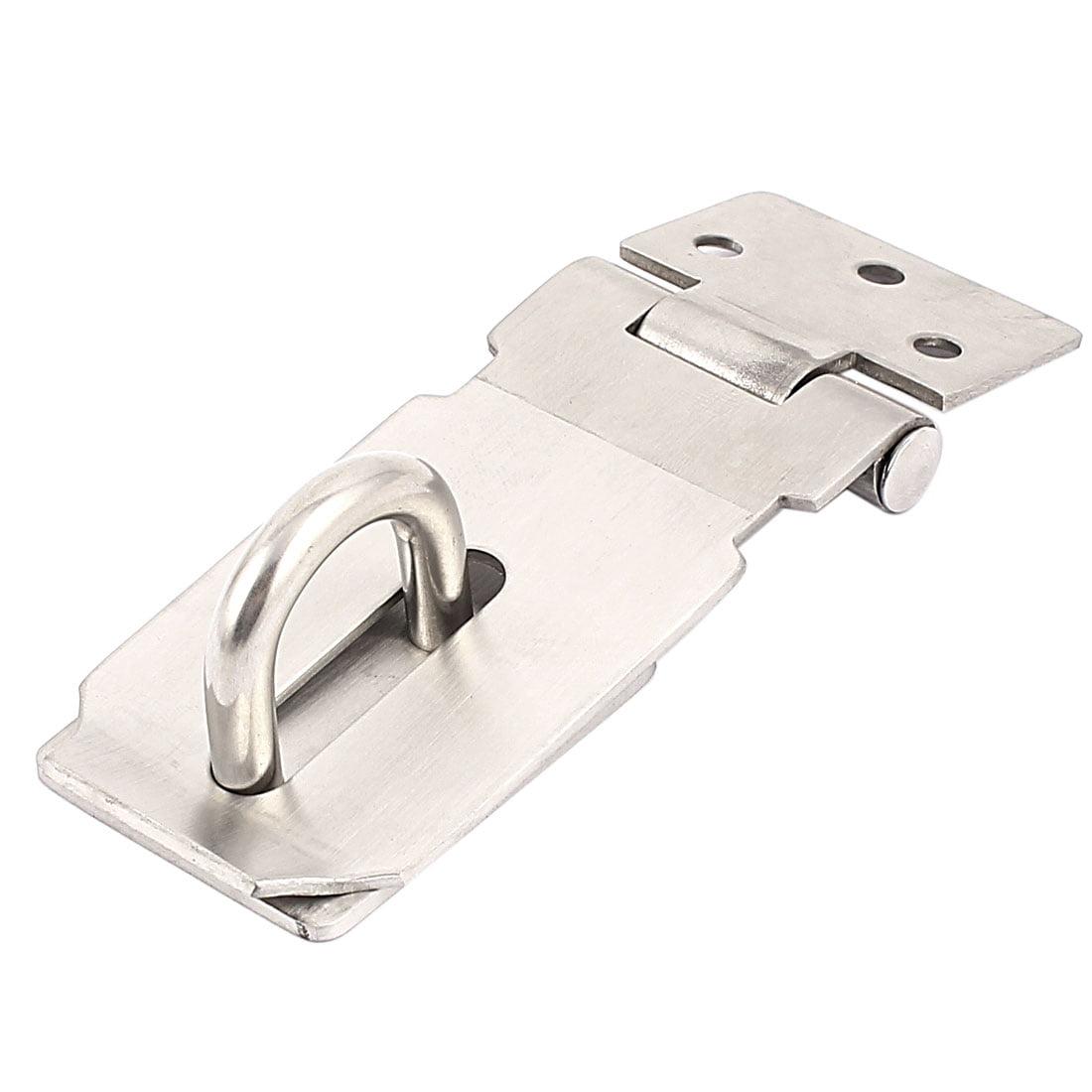Cupboard Gates Safety Padlock Latch Metal Door Hasp Staple Silver Tone 2 Sets