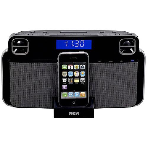 RCA RC180i Alarm Clock AM/FM Radio for iPhone and iPod