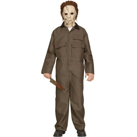 Michael Myers Halloween Movie Deluxe Teen Halloween Costume - Halloween Scare Prank Michael