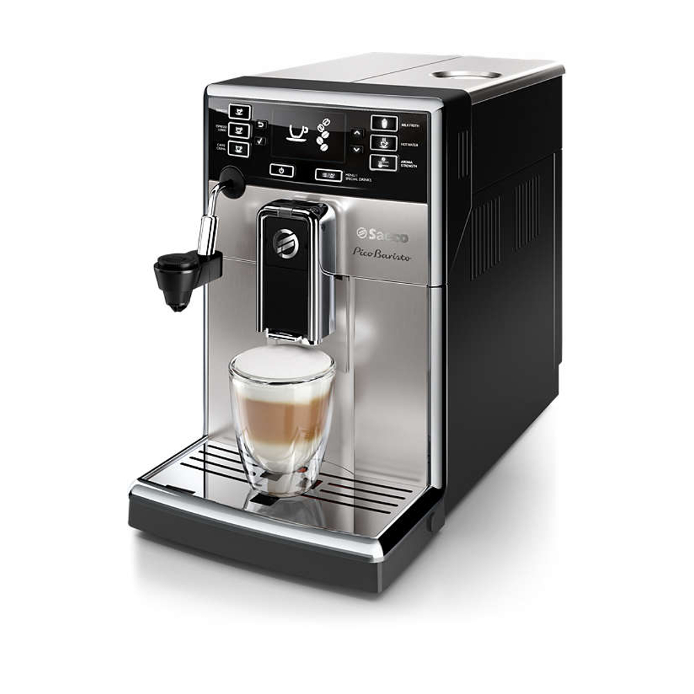 Saeco PicoBarista Stainless Steel Super-Automatic Espresso Machine with Automatic Milk Frother