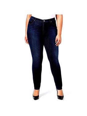 e0070ee98c2 Product Image Jack David Dark Blue Womens Plus Size Stretch Soft Butter  Skinny Premium Denim Jeans Pants