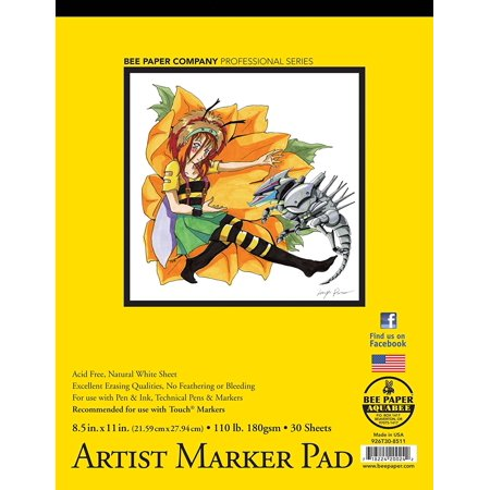 Bee Paper Bleedproof Marker Pad  8 1 2 Inch  11 Inch 8 1 2  X 11  Pad  Ship From Usa  Brand Bee Paper Company