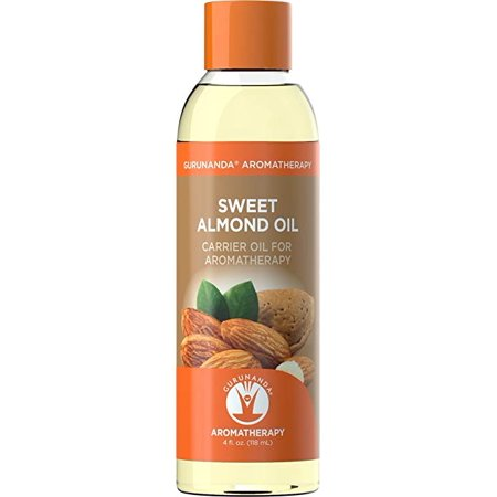 Guru Nanda Sweet Almond Oil Carrier Oil, 4 Oz
