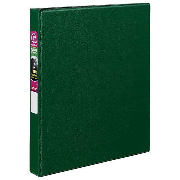 "Avery 1"" Durable Binder, Slant Ring, Green, 220 Sheets"
