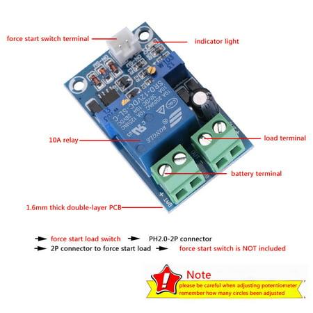 Garosa Batterie de 12V basse tension coupée du module de protection de récupération de commutation automatique, commutateur de coupure de basse tension, contrôle de sous-tension - image 5 de 8