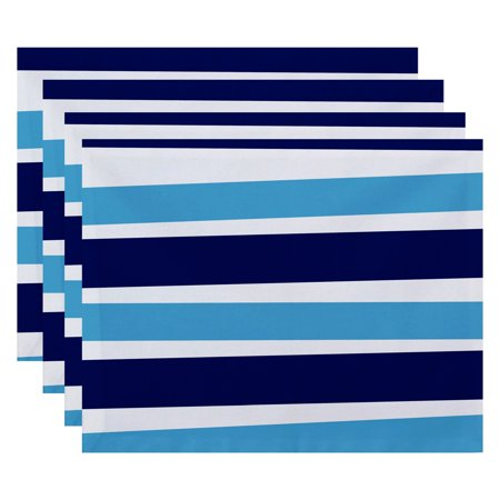 E by Design Hanukkah Stripes Holiday Placemat - Set of 4