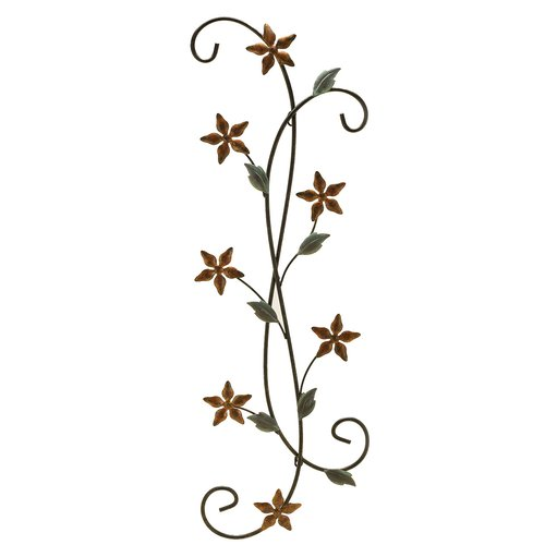 Fetco Home Decor Katelyn Floral Scroll Wall D cor
