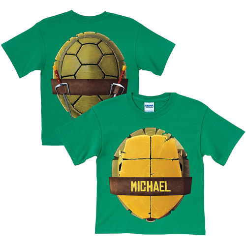 Personalized Teenage Mutant Ninja Turtles Turtle Shell Youth Green T-Shirt