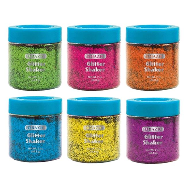 Bazic Products 3446-144 BAZIC 56. 6g - 2 Oz.  Neon Color Glitter Shaker with PDQ Case of 144