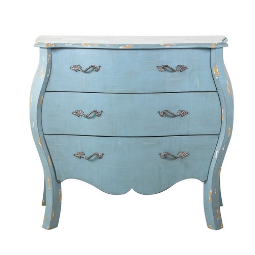 Accentrics Home Distressed Blue French Drawer Chest
