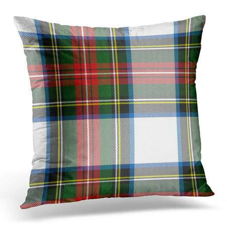 BPBOP Scottish Colorful Stewart Dress Tartan Clan Pillowcase Cover 18x18 (Stewart Clan Tartan)