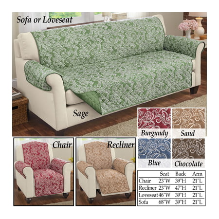 Brilliant Paisley Reversible Furniture Loveseat Sage Cover Protector Alphanode Cool Chair Designs And Ideas Alphanodeonline