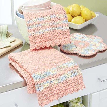 Crochet Yarn Walmart : ... Spring Towels & Flower Dishcloth Set Crochet Yarn Kit - Walmart.com