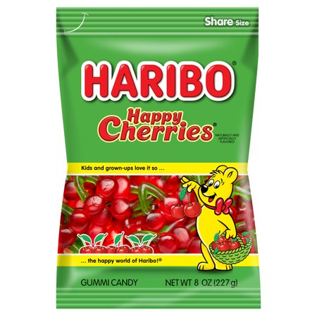 (3 Pack) Haribo, Happy Cherries Gummi Candy, 8 - Haribo Gummy Bear