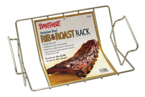 Bayou Classic 1049 Stainless Steel Rib and Roast Rack by Overstock