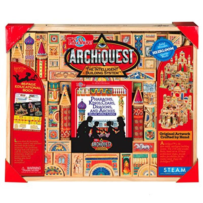 T.S. Shure ArchiQuest Deluxe World Fusion Wooden Blocks: ...