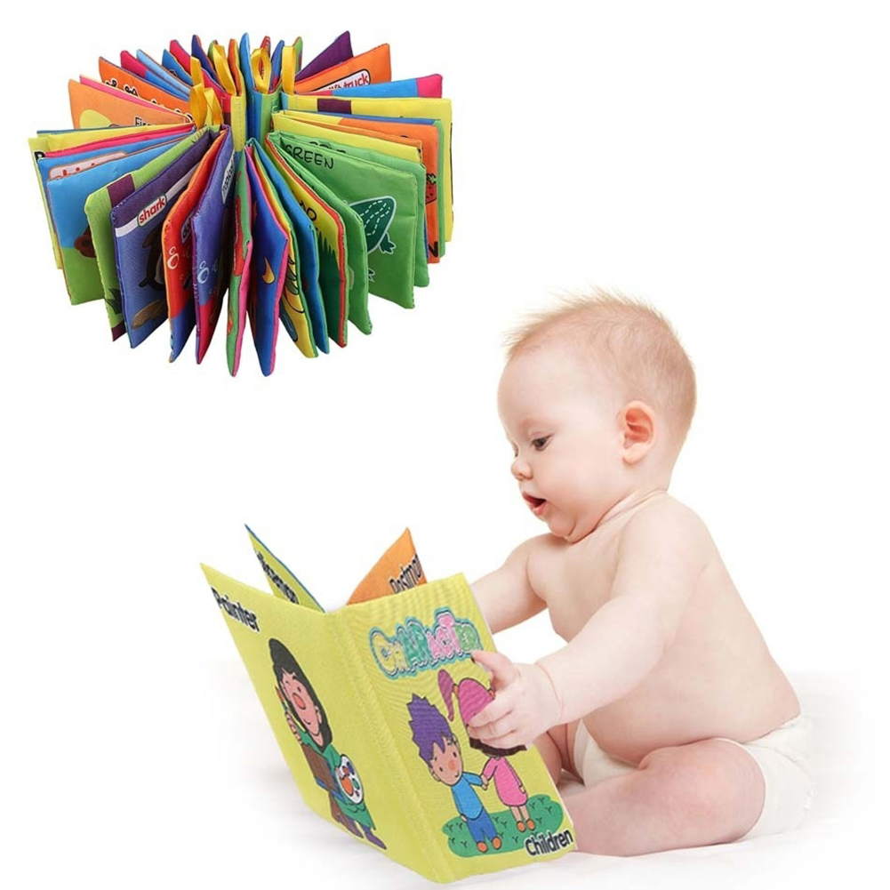 Girl12Queen Infant Baby Intelligence Development Early Cognize Cloth Book Educational Toy