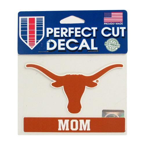 Texas Longhorns Official NCAA 4.5 inch  x 6 inch  Perfect Cut Car Decal by WinCraft