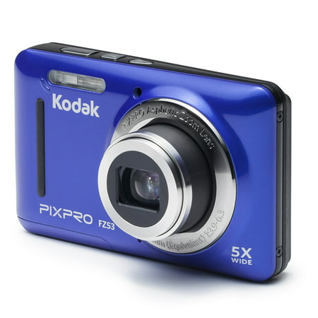 KODAK PIXPRO FZ53 Compact Digital Camera - 16MP 5X Optical Zoom HD 720p Video (Blue) F10 Digital Camera