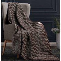 "Radella Charcoal Soft Plush Heavy Throw Blanket 50"" x 60"""