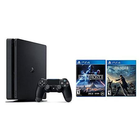 PlayStation 4 Slim 1TB Console 2 items Bundle: PS4 Slim - Star Wars Battlefront II Bundle and Final Fantasy XV Game