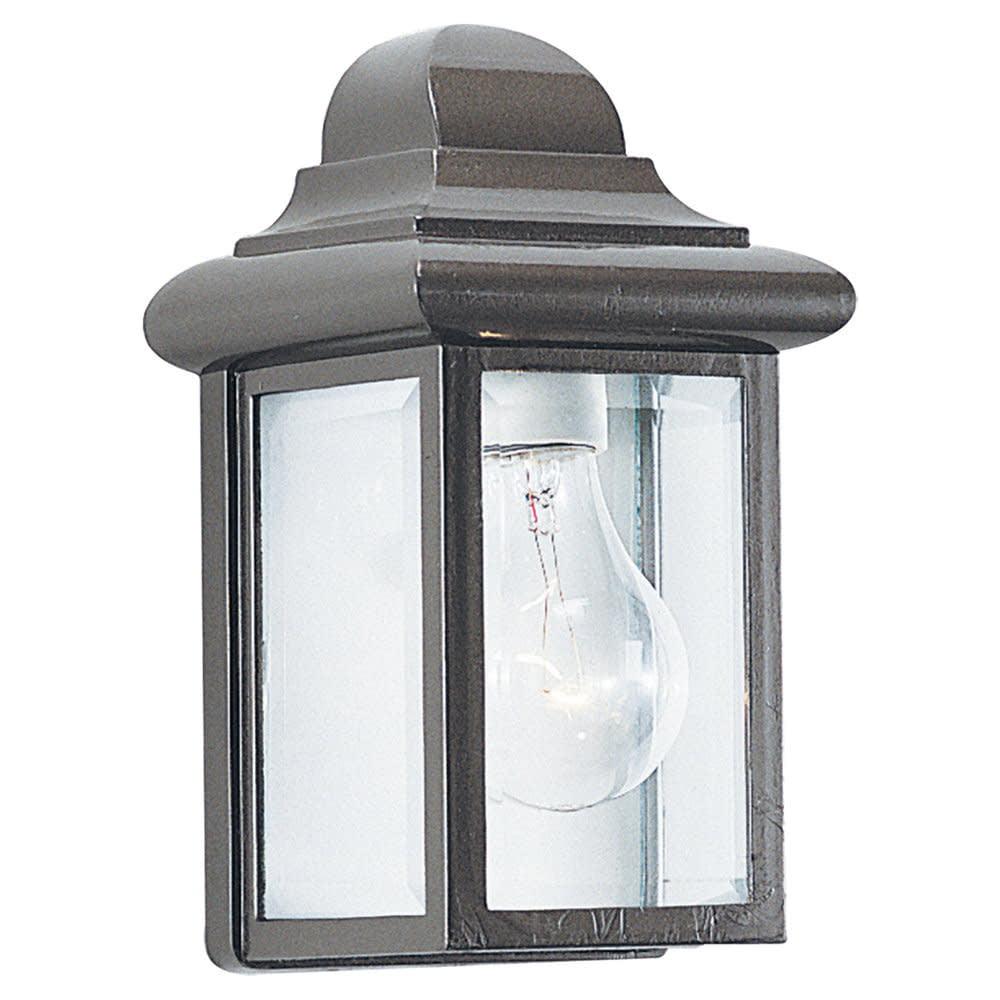 Sea Gull Lighting 8588 Georgian Cast Outdoor 1 Light Lantern Wall Sconce
